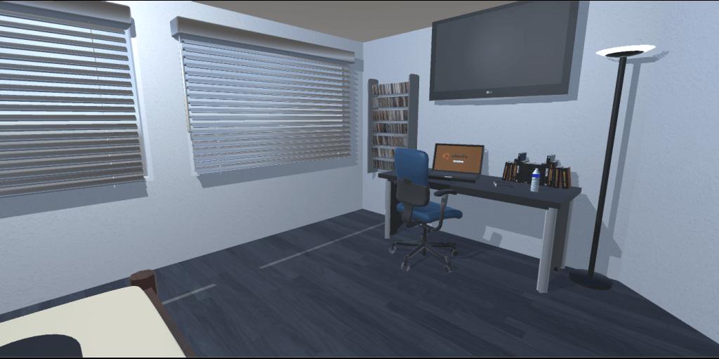 Escena de habitación recién importada