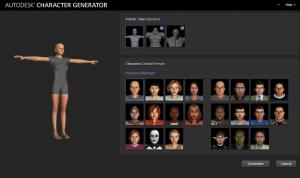 Generador de personajes de Autodesk
