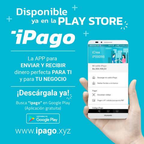 aplicacion movil ipago monedero virtual enviar y recibir dinero por internet disponible en Google Play Store