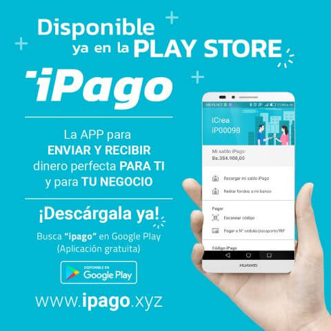 aplicacion movil ipago monedero virtual enviar y recibir dinero por internet disponible en Google Play Store